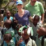 Jen with School kids