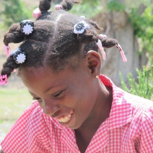 School girl in Haiti