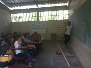 Kiana in classroom